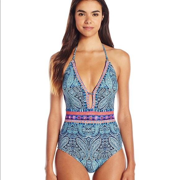 d307770f89e Nanette Lepore Swim | Indigo Blue Paisley Goddess | Poshmark